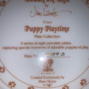 Red Shore Accents - A New Leash On Life Puppy Playtime Plate